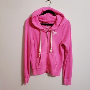 Pink Victoria's Secret Hot Pink Hoodie...S